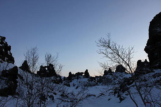 The sky over Dimmuborgir lava fields by Derek Sherwin