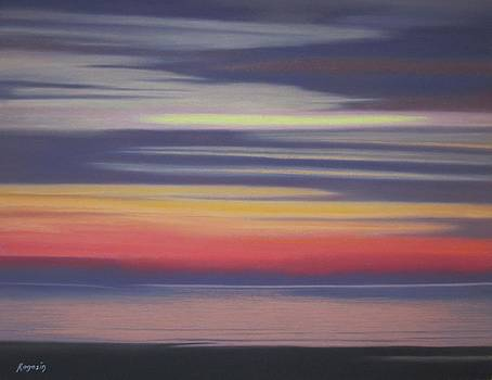 The Sky The Ocean The Sand as Evening Approaches by Harvey Rogosin