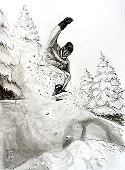 Art By - Ti   Tolpo Bader - The Snowboarder