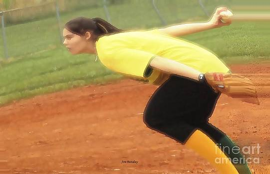 The Softball Pitcher by   Joe Beasley