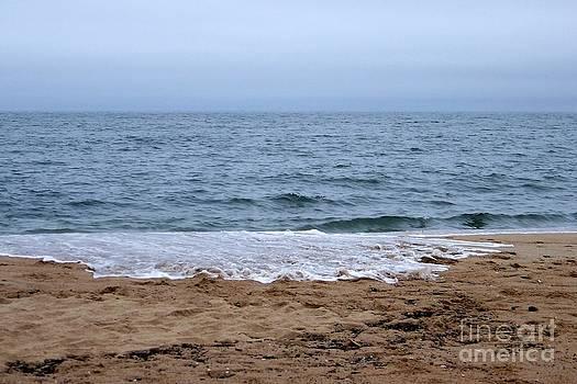 The Splash Over On A Sandy Beach by Eunice Miller