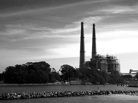 Joyce Dickens - The Stacks Moss Landing CA In Black and White