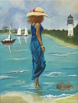 The Straw Hat in Key West by Caroline  Stuhr