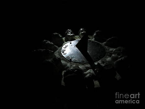 The Sun Clock AT Night. Sveksna. Lithuania. by Ausra Huntington nee Paulauskaite
