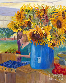 The Sunflowers at the Market by Patricia Huff