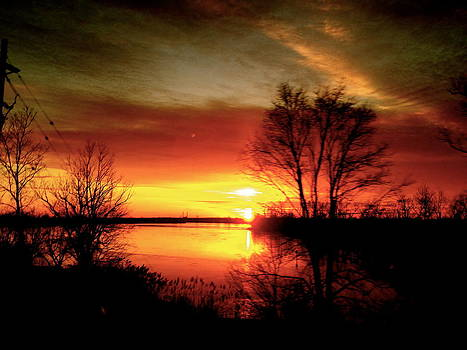 The sunset Amherstburg On by Pretchill Smith