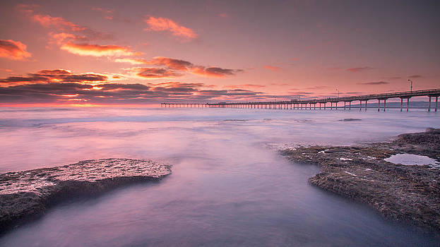 The sunset pier  by Victor Martinez