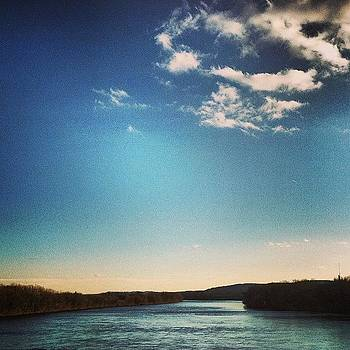 The Susquehanna River At Lewisburg, Pa by Cheryl Fallon