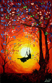 The swing Original painting by Svilen And Lisa
