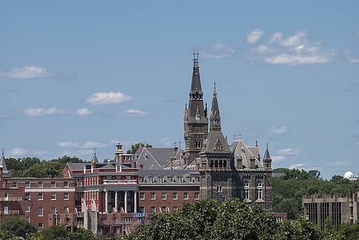 The Towers of Healy Hall Georgetown University by Lauren Brice