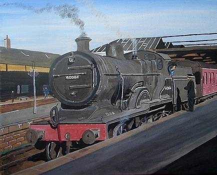 The train now standing by Harold Hopkinson