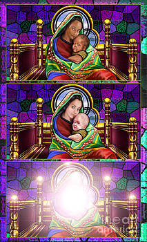 The Transfiguration Of Madonna and Child  by Reggie Duffie