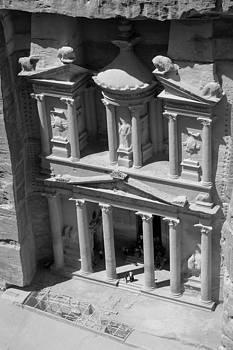 The treasury at Petra by Paul Cowan