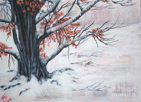 The tree in snow by Mariya Bobrovskaya