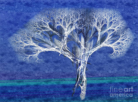 Andee Design - The Tree In Winter At Dusk - Painterly - Abstract - Fractal Art