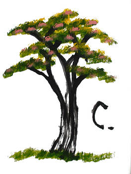 Phongsri Smeaton - Print - Elephant Paintings - The Tree Of Life