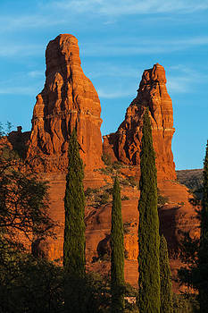 The Two Nuns at Sedona by Ed Gleichman