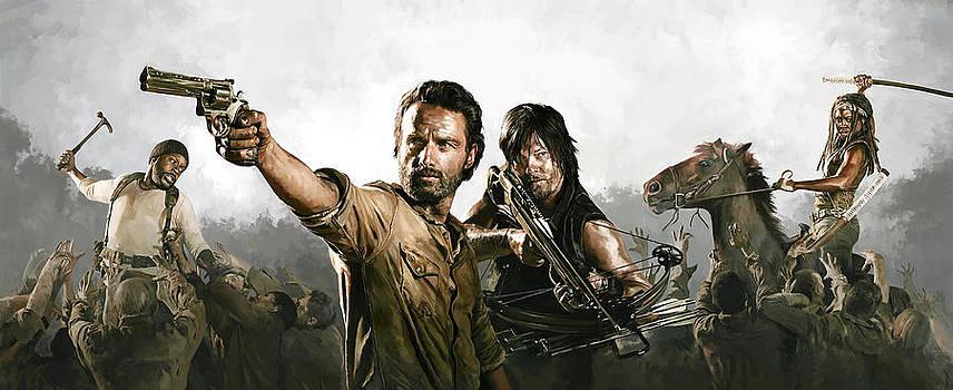 The Walking Dead Artwork 1 by Sheraz A