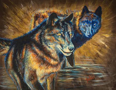 The Watchers by Teshia Art