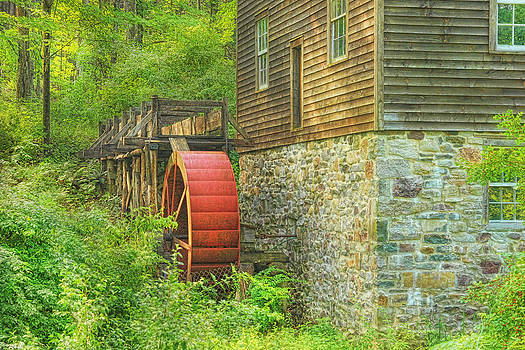 The Water Wheel At Millbrook by Pat Abbott