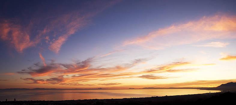 The Western Mediterranean At Sunset by Austin Brown