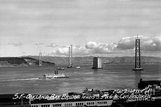 California Views Mr Pat Hathaway Archives - The Western span of the San Francisco - Oakland Bay Bridge Under Construction March 2 1935