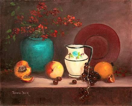 The White Vase Still Life by Jeanene Stein