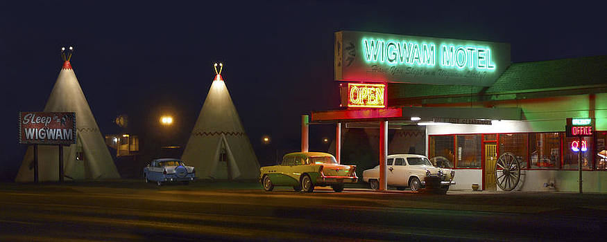 Mike McGlothlen - THE WIGWAM MOTEL ON ROUTE 66 Panoramic
