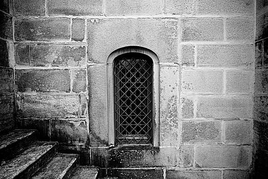 The Window in the Wall Black and White by JM Photography
