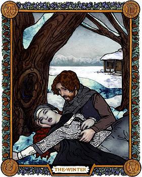The Winter Bookplate by A Ka