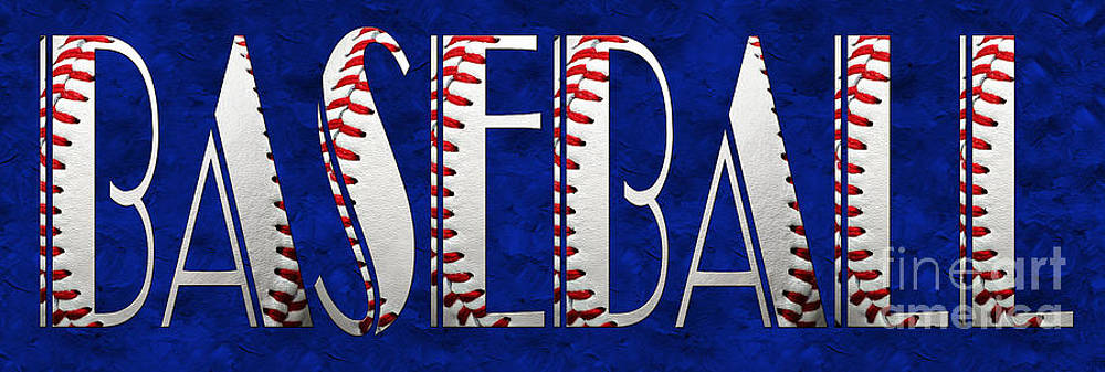 Andee Design - The Word Is BASEBALL On Blue