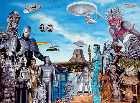 The world of Sci Fi by Tony Banos