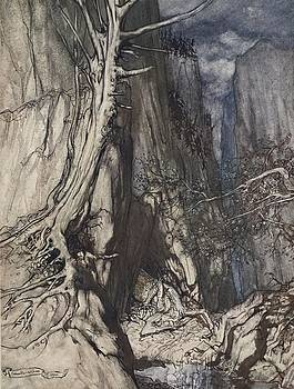 Arthur Rackham - There Is A Dread Dragon He Sojourns