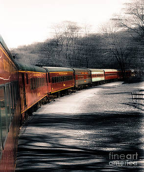 There's a train a comin' somewhere around the bend by Steven Digman