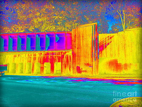 Thermogram Abstract of Train Bridge by Deborah Fay