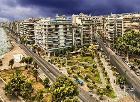 Justyna Jaszke JBJart - Thessaloniki Town View