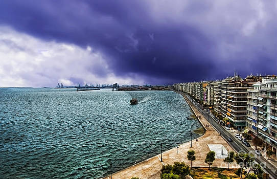 Justyna Jaszke JBJart - Thessaloniki View of the port and part of city