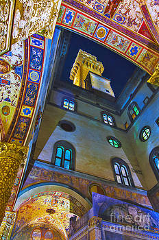 Viev from Courtyard of Palazzo Vecchio Florence by Lilianna Sokolowska
