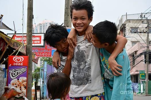 Thi street kids  by Bobby Mandal