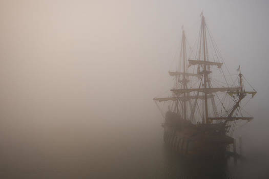 Thick fog blankets El Galeon  by Stacey Sather