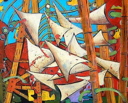 Thirteen Sails of Being by James  Lalepop Becker