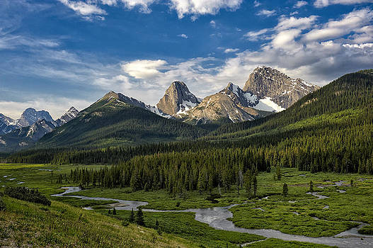 Paul W Sharpe Aka Wizard of Wonders - This is Alberta No.27 - Spray Valley Peaks