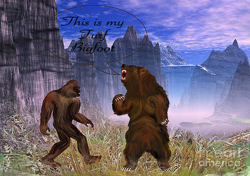 This is my Turf Bigfoot Digital Painting by Heinz G Mielke