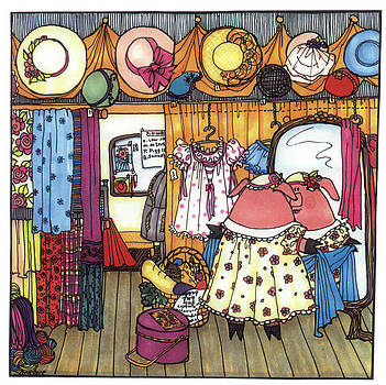 This Little Piggy Went Shopping by Sarajane Helm