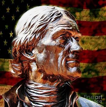 Thomas Jefferson Statue  by Judy Palkimas