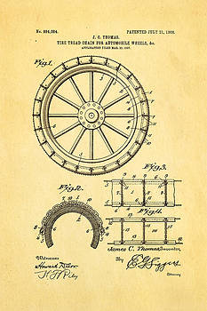 Ian Monk - Thomas Tire Tread Chain Patent Art 1908