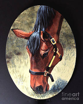 Art By - Ti   Tolpo Bader - Thoroughbred Head