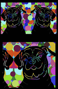 Three and a Half Pugs by Chris Goulette