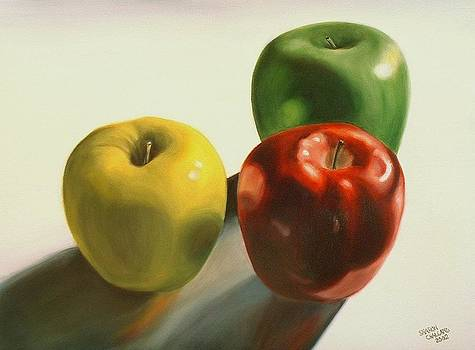 Three Apples by Sharon Challand