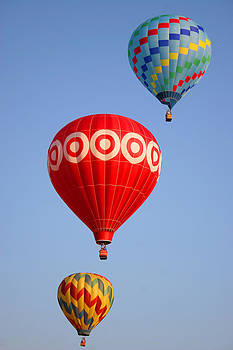 Three Balloons Ascending Vertical by Mason Resnick
